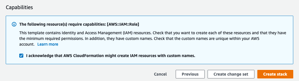 Figure 4: CloudFormation IAM notification