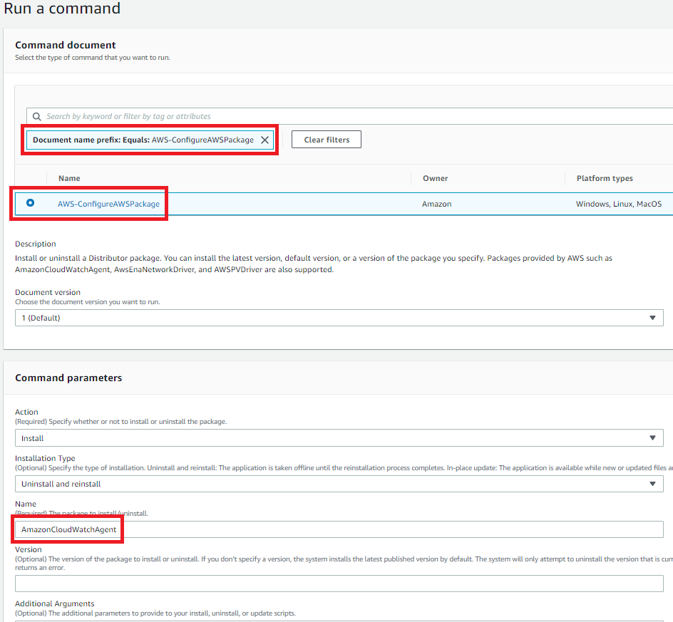 Figure 3: Install the CloudWatch agent on the instances