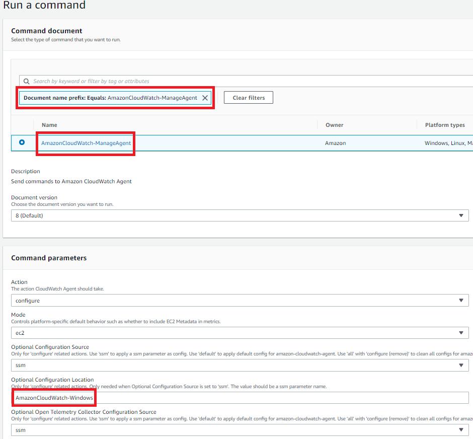 Figure 4: Configure the CloudWatch agent on the instances