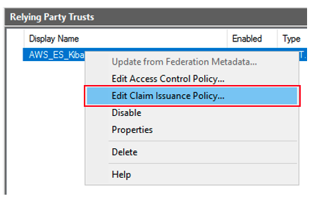 Figure 11: Edit the claim issuance policy