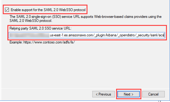 Figure 8: Enable SAML support and provide the SP-initiated SSO URL