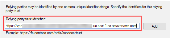 Figure 9: Provide the service provider entity ID