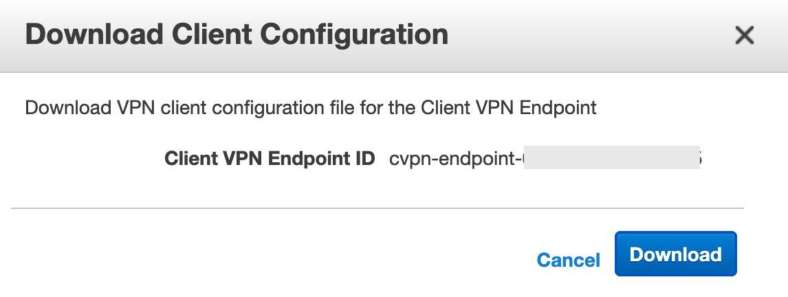 Figure 6: Client VPN Endpoint - Download Client Configuration