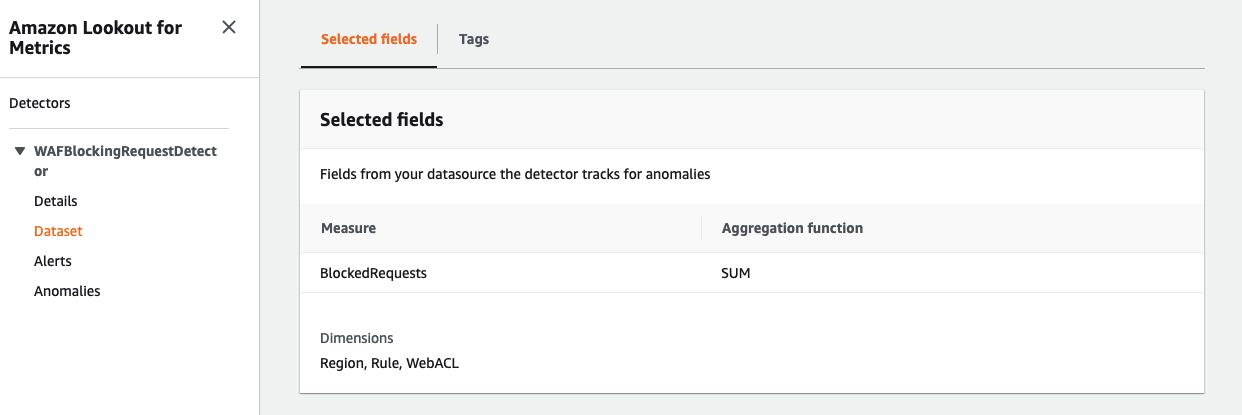 Figure 7: Creating an Amazon Lookout for Metrics dataset