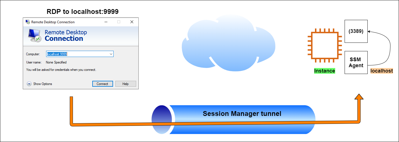 Figure 3: Session Manager tunnel