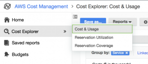 Explore costs and usage