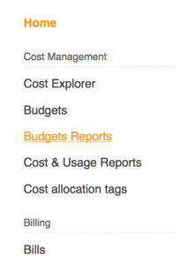 AWS Budgets Reports