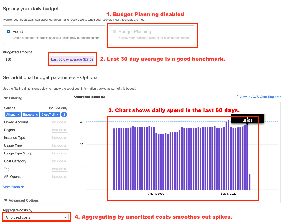 Launch: Daily Cost and Usage Budgets