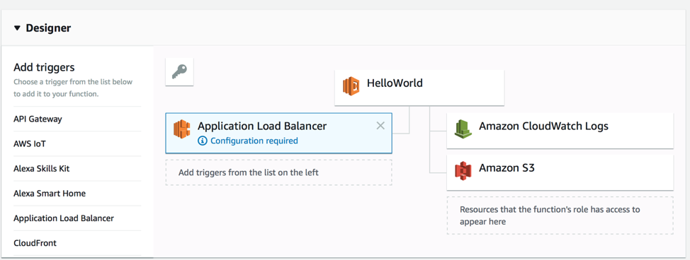 Application Load Balancing para Lambda