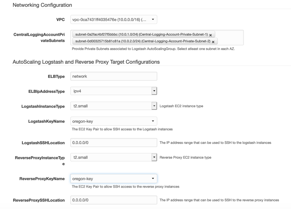 Networking, Autoscaling logstash and Reverse proxy target configurations