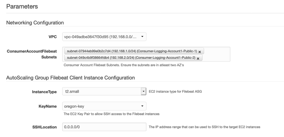 Networking, Autoscaling group filebeat client instance configurations