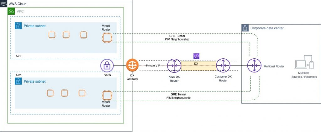 DX with a Private VIF and a Virtual Private Gateway