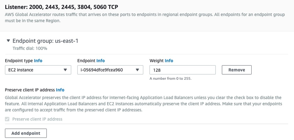 AWS Global Accelerator Setup - Add Endpoints