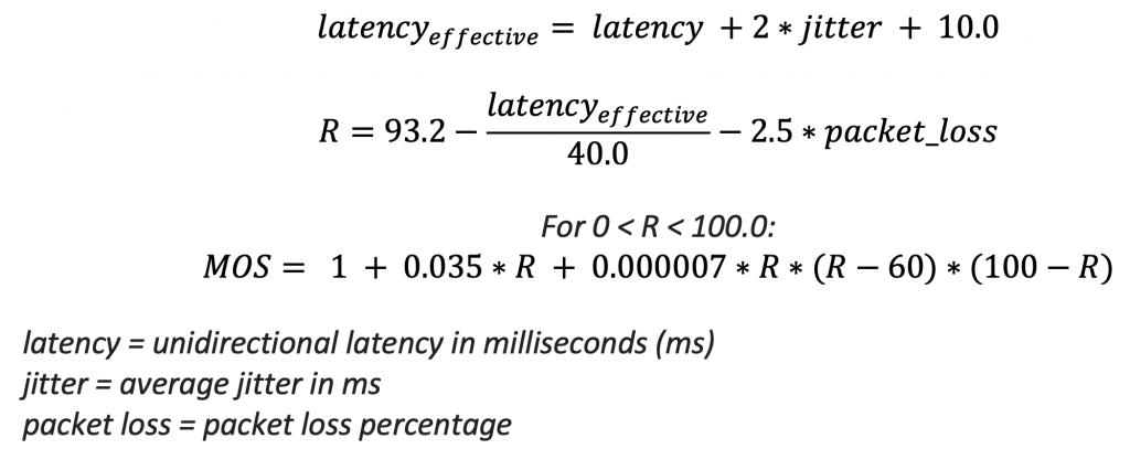 MOS Formula