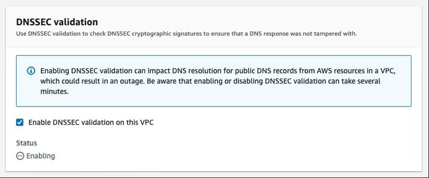 DNSSEC validation