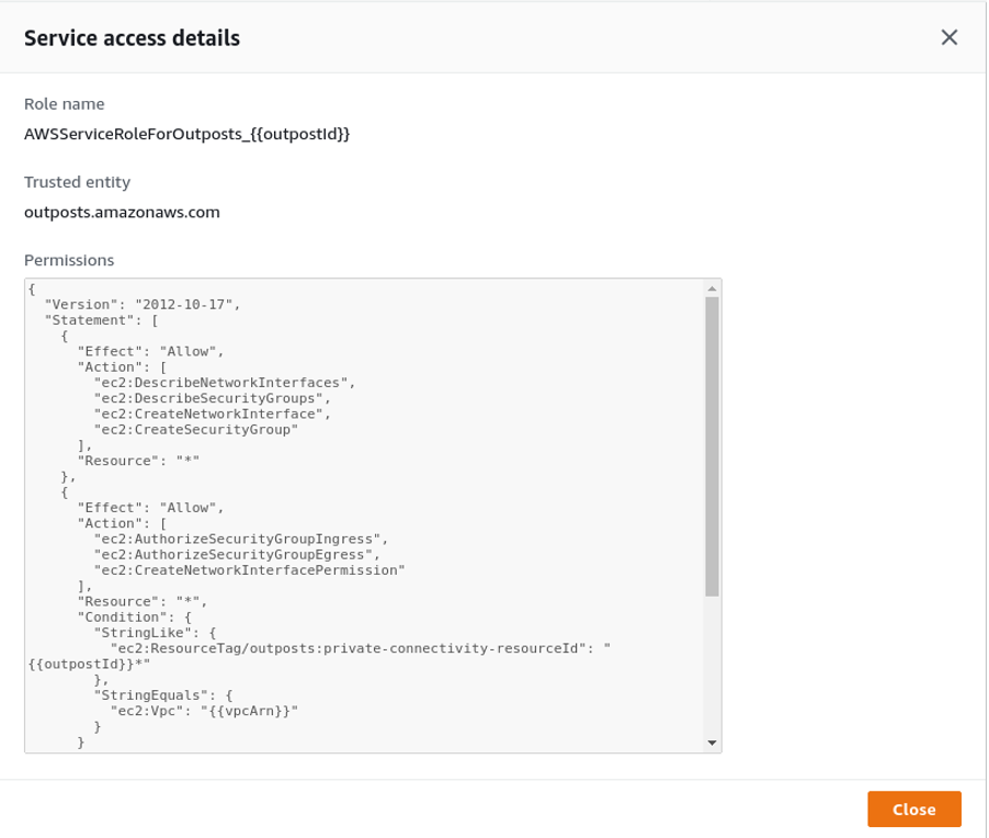 service access details