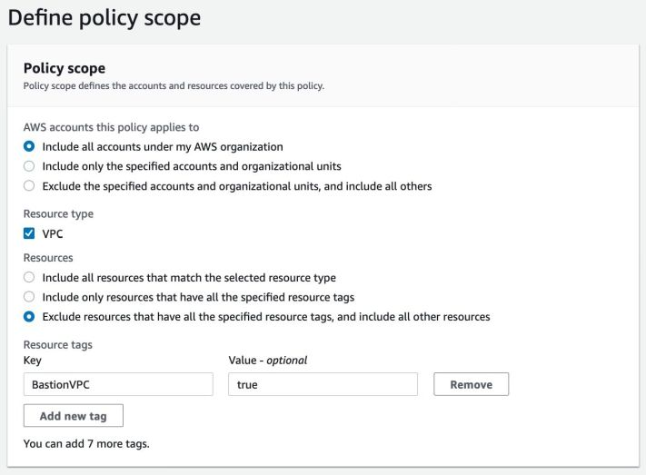 AWS Firewall Manager DNS Firewall policy scope