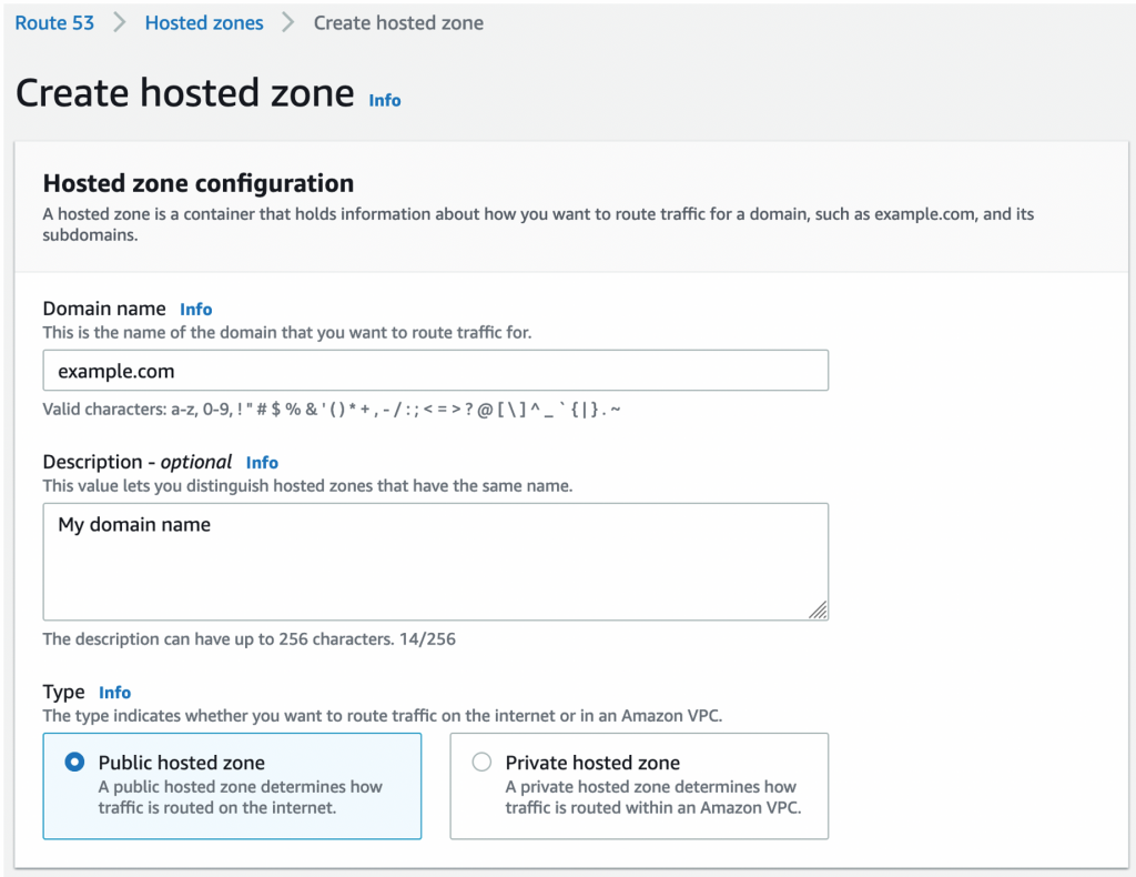 A snapshot from AWS console showing the options and Output section of Cloudformation page.