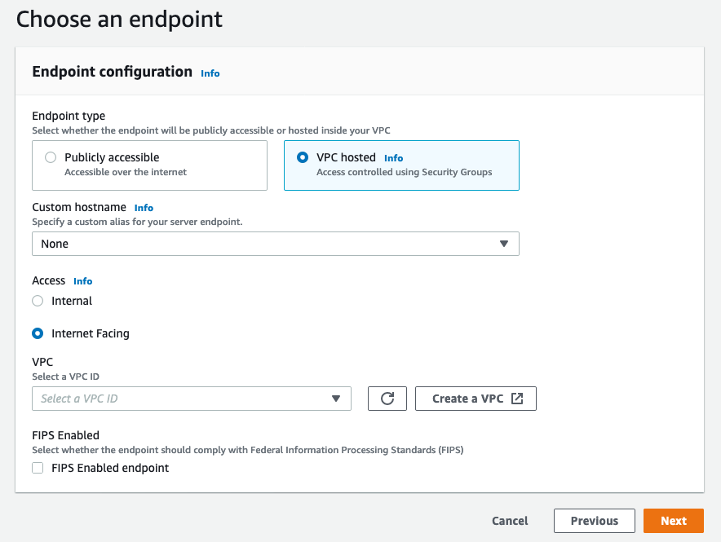 Endpoint configuration screenshot