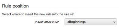Rule position
