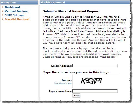Blacklisted address removal