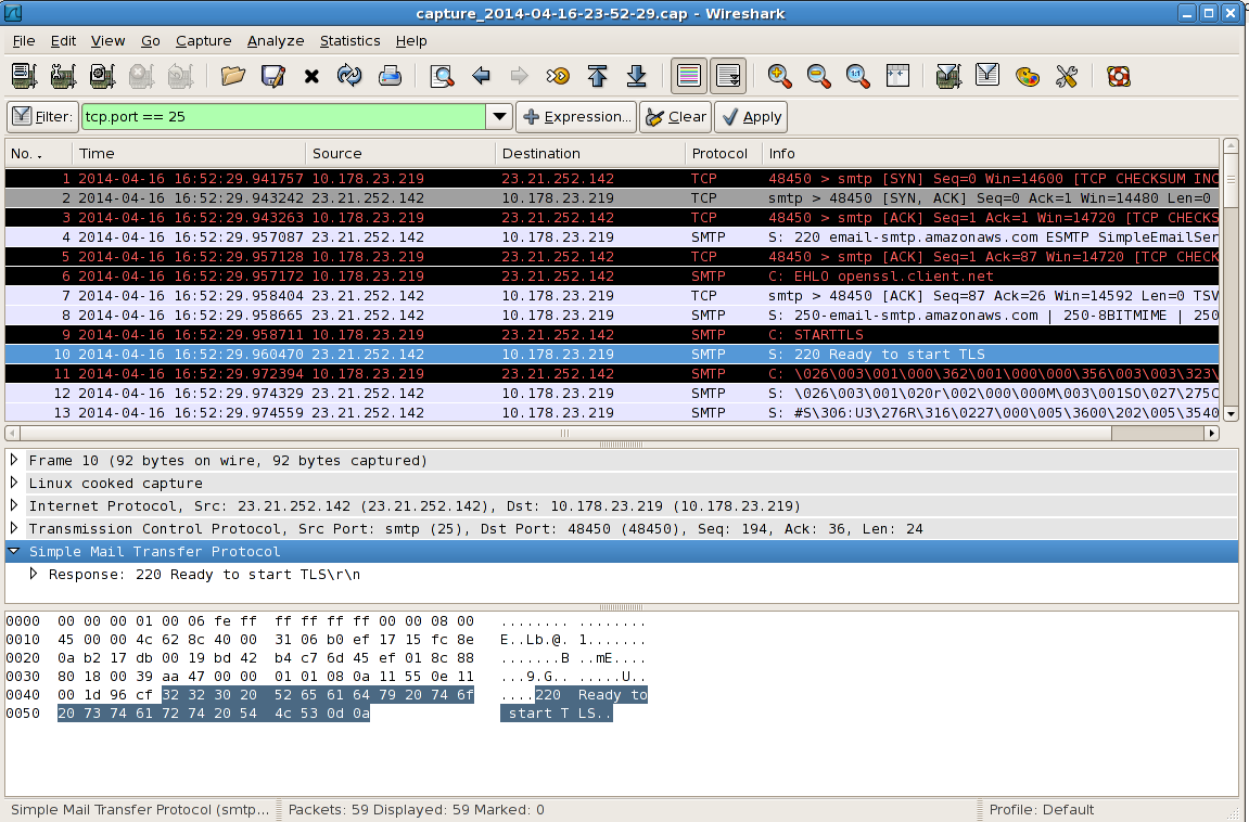 TCP Dump / Wireshark