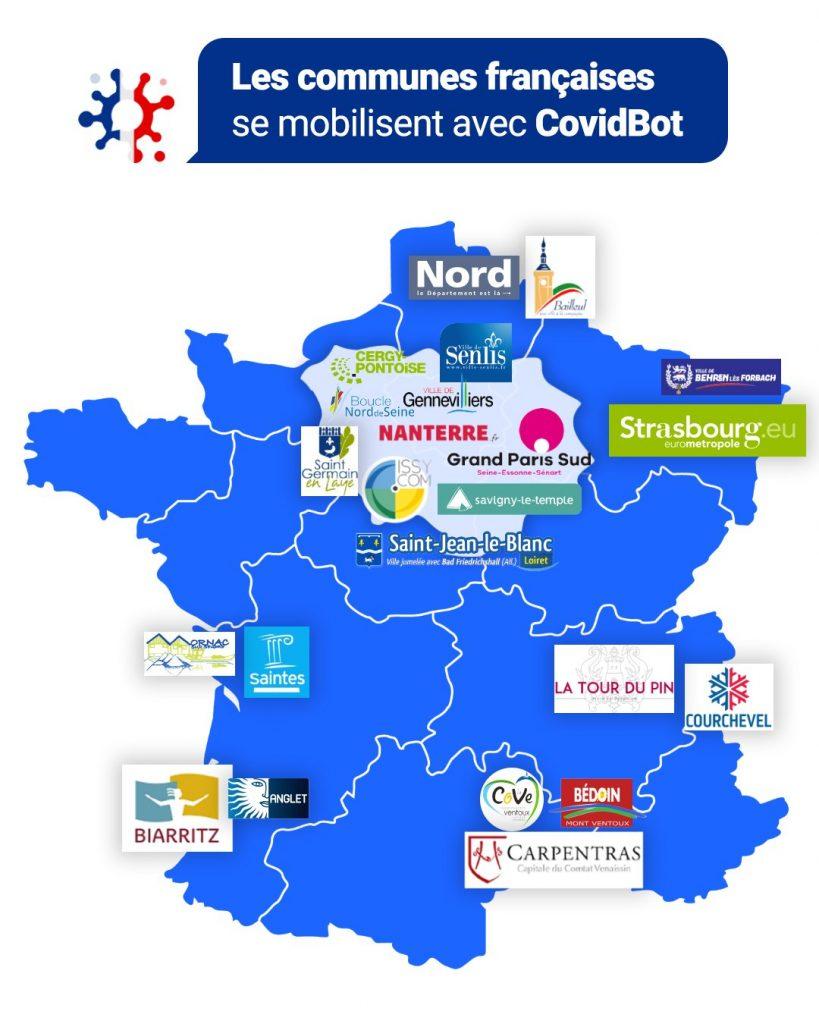 Clevy CovidBot Carte de France