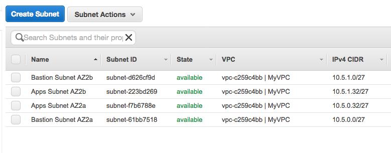 AppStream 2 - Bastion - Configuration sous-réseaux