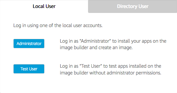 AppStream 2 - Bastion - Image Builder Admin connection