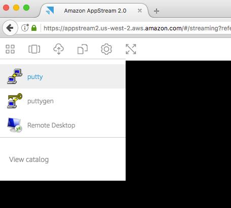 AppStream 2 - Bastion - Utilisation Putty
