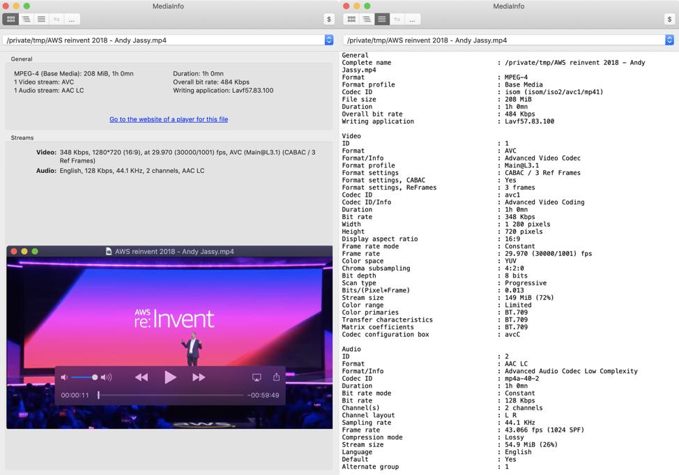 mediaInfo - Information screenshot
