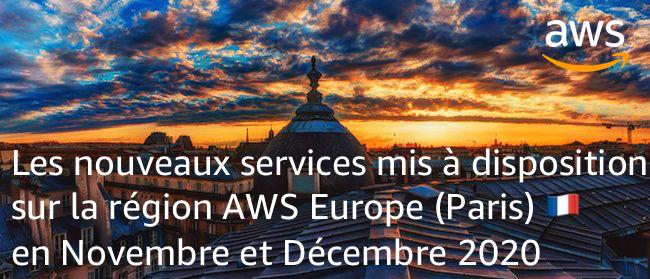 Nouveaux Services Paris Novembre Decembre 2020