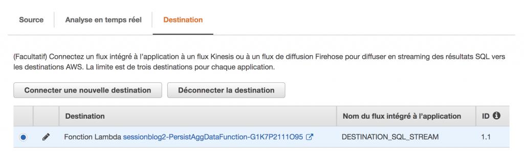 Amazon Kinesis - Utilisation d'AWS Lambda comme destination