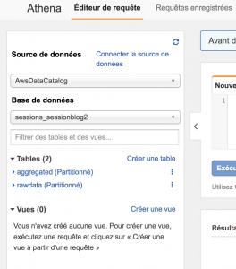 Amazon Athena - Choix de tables