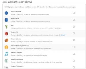 Configurations Amazon Quicksight