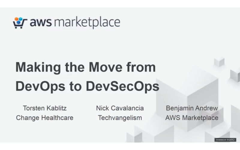 DevSecOps webinar AWS Marketplace