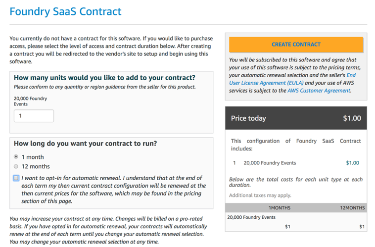 Foundry SaaS contract
