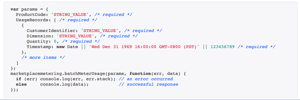 post multiple metering records code