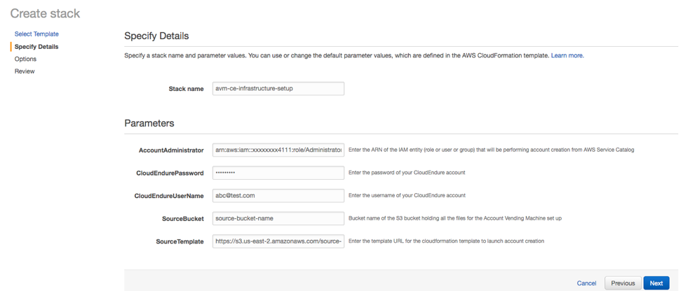 specify details page