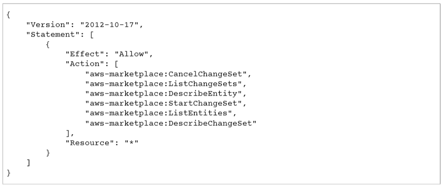 Catalog API Managed Policies