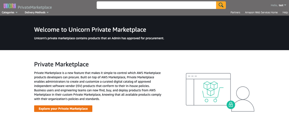 Unicorn Private Marketplace AWS Marketplace