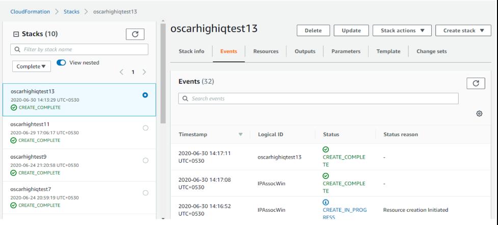 Oscar HighIQ create complete screenshot