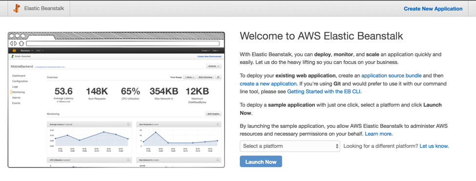 Welcome to AWS Elastic Beanstalk Screenshot