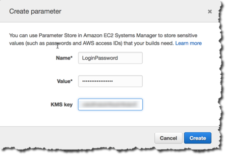 Create parameter