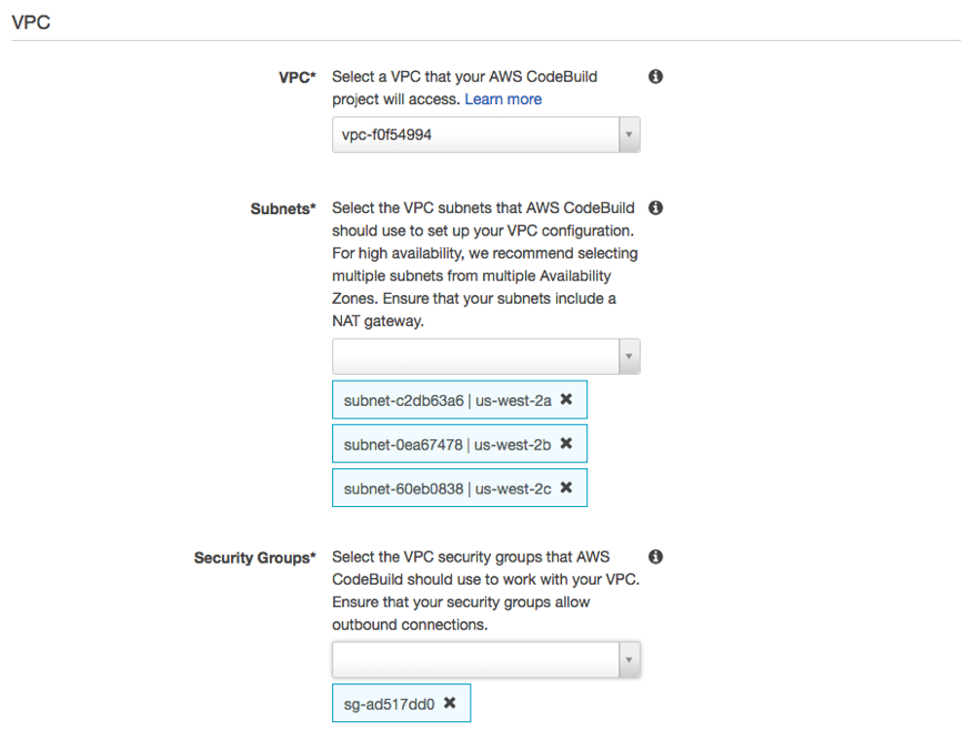 Access Resources in a VPC from AWS CodeBuild Builds | AWS