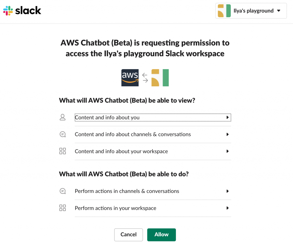 Slack OAuth 2.0 flow