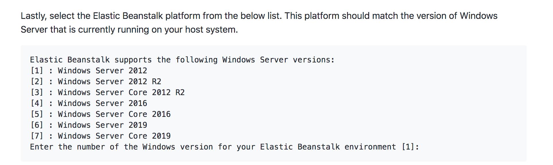 EB platform selection