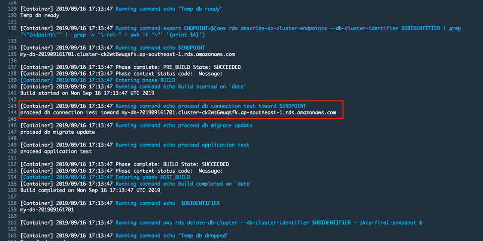 CodeBuild Project Build Log - build stage