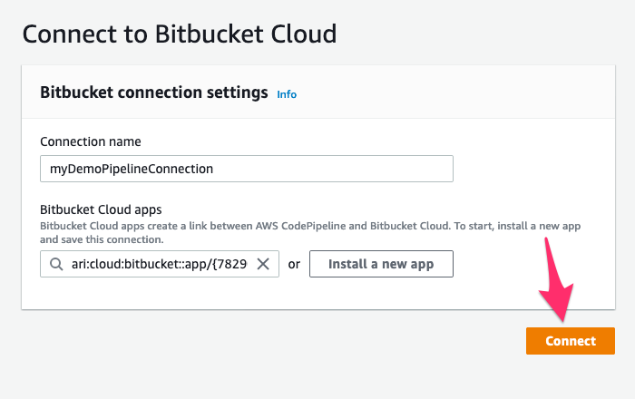Clikc Connect to BitBucket