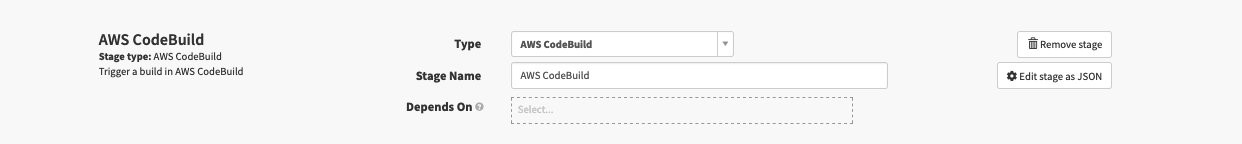 Select AWS CodeBuild from the drop down of Type.